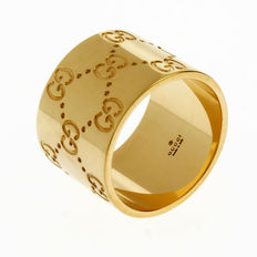 "Gucci - ""Icon"" 18k Gold Ring (Wide)"