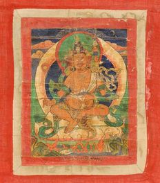 Thangka of a tantric yogi/guru - Tibet - 18th Century
