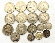 Spain – Spanish Centenary – Lot of 17 silver coins – Madrid