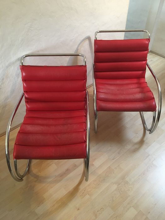 Swell Mies Van Der Rohe By Knoll International Mr Lounge Chair Pair Of Two Catawiki Squirreltailoven Fun Painted Chair Ideas Images Squirreltailovenorg