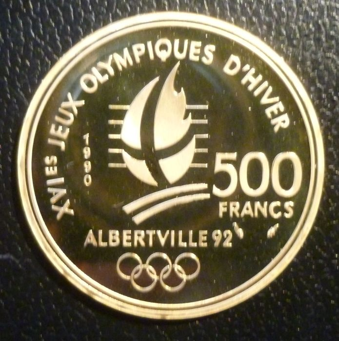 France - 500 Francs 1990 'Winter games Albertville' 92 '- Gold