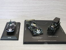 Ixo Models - Schaal 1/43 - Kavel met 3 modellen: Bentley 2 generations at Le Mans & Jaguar D Type