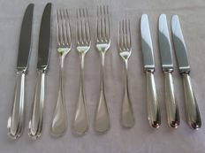 Cutlery pieces Christofle France Perles, 1995