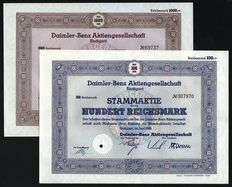 Germany (Stuttgart ) - Daimler-Benz Aktiengesellschaft (Mercedes) - 1940/1942 (Lot of 2)