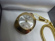 Glashutte - GUB - Made in Germany - Women's pendant/ pocket watch - 1960/70s - Gold plated