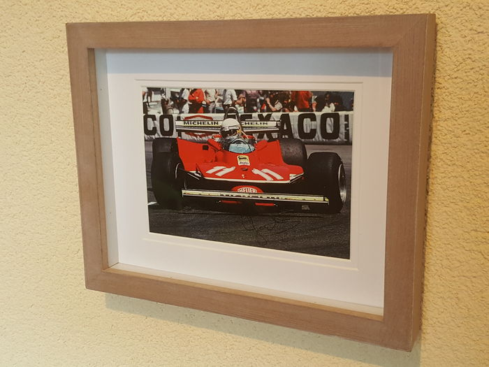 Jody Scheckter - Ferrari world champion Formula 1 - original 3D autographed framed photo + COA.