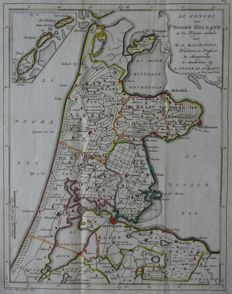 Noord-Holland, Zuid-Holland; Willem Albert Bachiene - 2 copper engravings  - ca. 1775
