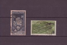 Kingdom of Italy 1934/1937, 2 cancelled stamps