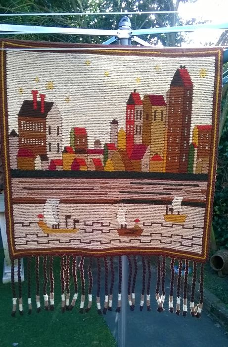 Large Kilim Cepelia Wool wall hanging, Tapestry, hand-knotted ...