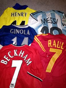 Authentic vintage football shirt collection