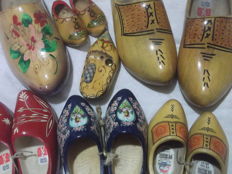 pair of vintage wooden clogs