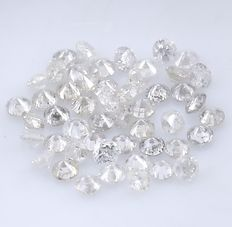 50 Round Brilliant Diamonds – 0.49 ct. - No Reserve