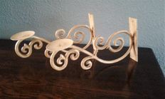 Wrought iron piano candlesticks