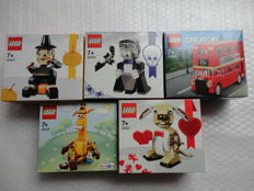 Holiday / Creator - 5 sets incl. 40201 + 40220 - Valentine's Cupid Dog + Mini London Bus