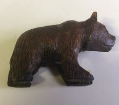 Bear, wood carving, Black Forest, Germany, 1920.