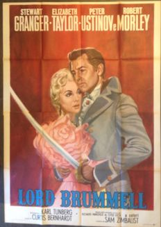 Manifesto originale cinema Lord Brummell