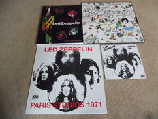 Led Zeppelin Lot of One Book, Two Lps and one Single