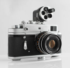 ZORKI-4 k: blank identity: No-NAME with multi viewfinder and Russian Industar 61: 2.8/55 mm lens
