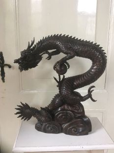 Large bronze dragon – Japan – 2nd half 20th century