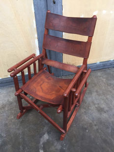 Designer unknown - vintage officer's rocking chair