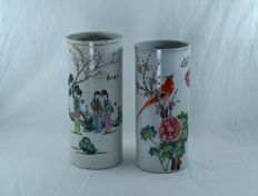 Two porcelain vases - China - approx. 1920