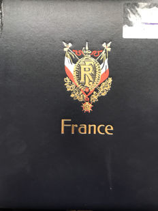 France 1849/1949 – Very advanced collection in Davo LX album and case.