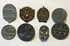 "German Reich ""8 badges and medals, 1936-1939"""