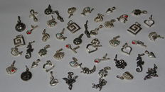 50 silver charms and pendants/Angels/Cupid etc