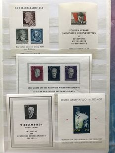 GDR 1955/1990 – collection of blocks and miniature sheets – Michel block 12/101
