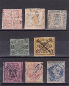 German States 1851/68 - Mecklenburg, Brunswick, Bayern, Hanover, Thurn and Taxis and Prussia - a small collection