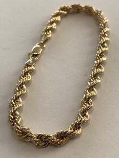 Rope necklace – 18 kt gold – Weight: 6 grams – Length: 46 cm. - No reserve