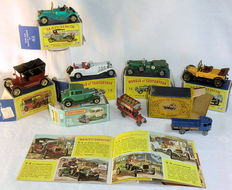 Lesney Matchbox MoY - Div. schalen - Kavel met 8 Models of Yesteryear Modellen en Catalogus 1969