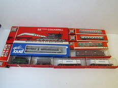 Jouef H0 - 4500/4501/460/861/862/6561(2x)/6531/6573/663 - Lot of carriages and crane carriages