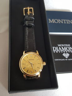 Montine - Excluso 24K Gold + 2 Diamonds (Ladies) - 2017, Unworn Complete in Box
