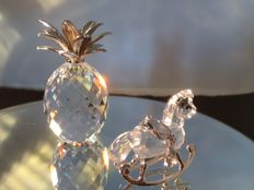 Swarovski - Pineapple silver small and rocking horse silver