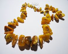 Old Baltic amber necklace, 71gr.