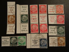 German Empire - A collection od Booklet stamp variations