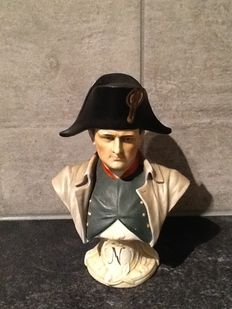Capo di Monte - biscuit porcelain bust of Napoleon.