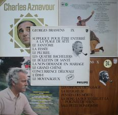 French Chanson / Les Grandes Chansonniers - Lot of 33 albums (incl. 5 double albums) (various labels 1965-1975) - mostly French press