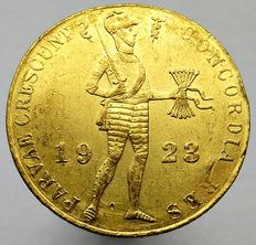 The Netherlands - Ducat 1923 Wilhelmina - gold