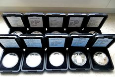 Netherlands - ducat 1989/2000 (10 different kinds) - silver