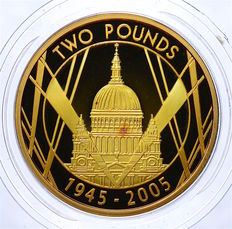 Great Britain - 2 Pounds 2005 '60th Anniversary of the end of WWII' - Gold