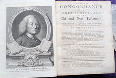 Alexander Cruden - A complete concordance to the Holy Scriptures of the Old and New Testament: or a dictionary and alphabetical index to the Bible - 1769