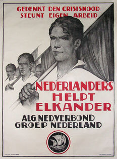 Willem van den Berg - Remember the depression, support own industry - approx. 1930