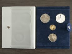 "The Netherlands – 2½, 10, 25 and 200 ECU 1992 ""King Willem I"" – gold, silver and nickel in original case"