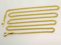 18k Gold Necklace Wheat Chain - 55 cm