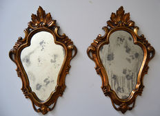 A pair of wall mirrors - mid 20th century