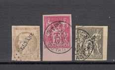 French Guiana – 1892 – Yvert #10, 14, 15
