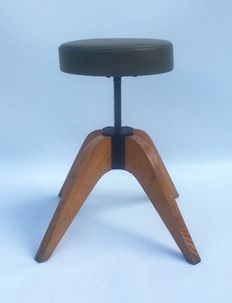 JIM - wood and metal vintage stool