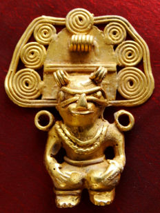 Pre-Colombian Tumbaga Gold - 50x40mm, 23'7 grs